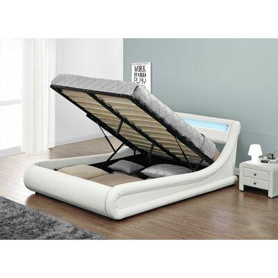 Haskett Beaulieu Serpentine Full Storage Platform Bed Color: White