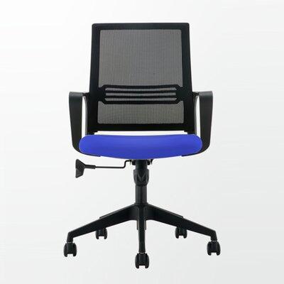 Pinnock Mesh Mid Back Multi Function Adjustable Ergonomic Office Chair Color: Blue