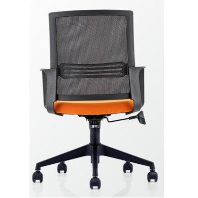 Pinnock Mesh Mid Back Multi Function Adjustable Ergonomic Office Chair Color: Orange