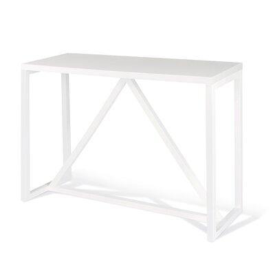 Dunstan Wood Console Table Color: White