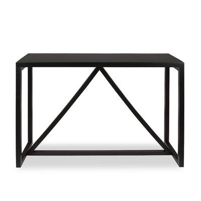Dunstan Wood Console Table Color: Black