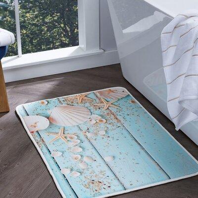 Dunbar Shells Foam Core Comfort Bath Rug Size: 20'' x 30''