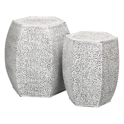 Treasa 2 Piece Garden Stool Set