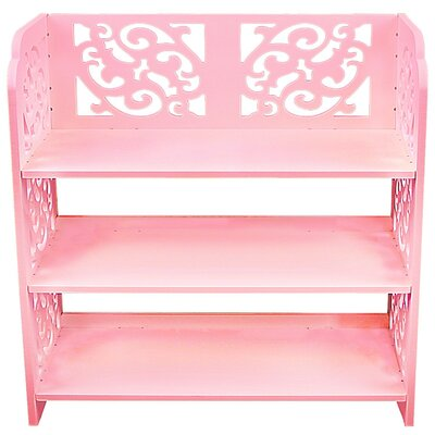 Multipurpose 3 Tier Shoe Rack Color: Pink