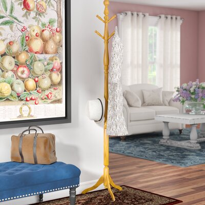 5322 Series Old World Deluxe Coat Rack Color: Oak