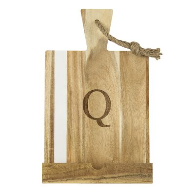 Single Initial Personalized Tablet Recipe Desktop Book Stand Letter: Q