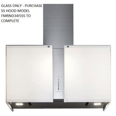 Mirabilia Maia Glass Accessory Square Island Range Hood Wall Cap