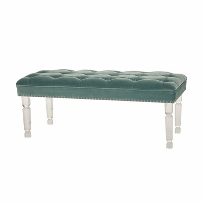 "Caleigh Upholstered Bench Size: 18.3"" H x 44.88"" W x 18.3"" D"