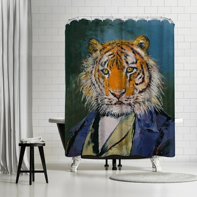 Michael Creese Gentleman Tiger Shower Curtain