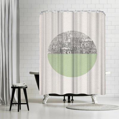 David Fleck Circle Shower Curtain