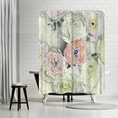 Elizabeth Hellman Ranunculus Shower Curtain