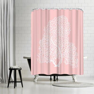 Adams Ale Mil Pink Gorgonian Shower Curtain