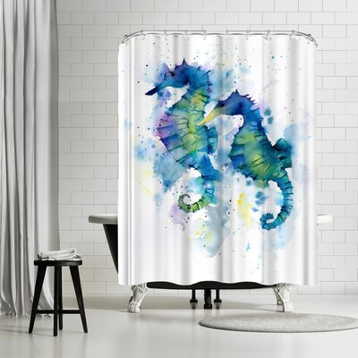Rachel McNaughton Seahorses Shower Curtain