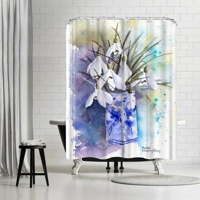 Rachel McNaughton Snowdrops Vase Shower Curtain