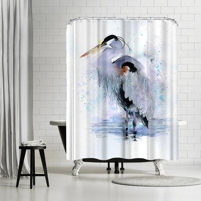 Rachel McNaughton Splashy Heron Shower Curtain