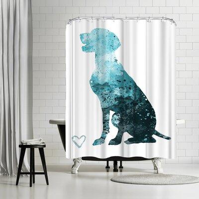Allison Gray German Shorthair Pointer Shower Curtain