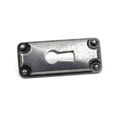 Rio Zinc Die Cast Center Keyplate Pull Finish: Weathered Pewter