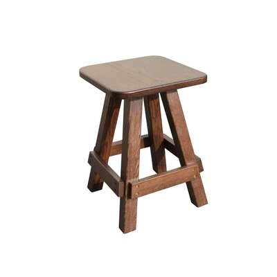 Langridge Oak Garden Stool Color: Brown