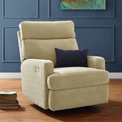 Enchanted Reclining Glider Upholstery: Beige