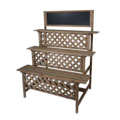 Crispin 3 Tier Wood Multi-Tiered Plant Stand