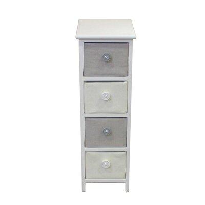 Baldric Wooden 4 Drawer Accent Cabinet
