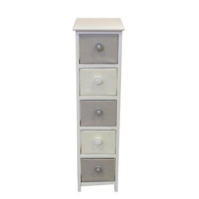 Baldric Wooden 5 Drawer Accent Cabinet