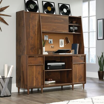 West Town Credenza Desk with Hutch