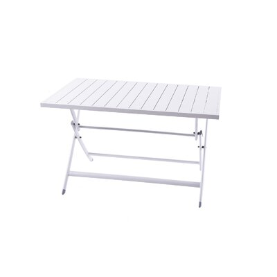 "Brunch Aluminum 47"" Rectangular Folding Table"