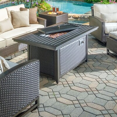 La Lima Aluminum Propane Fire Pit Table