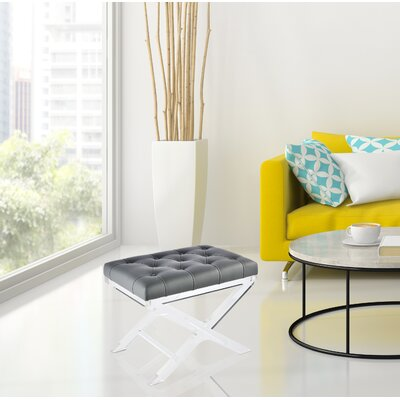 North Burnet?Gateway Tufted Synthetic Leather Accent Stool
