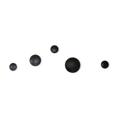 Belel Button Wall Hook Color: Black