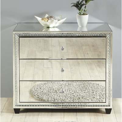 Laster Crystal 3 Drawer Accent Chest