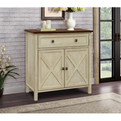 Lamb Farmhouse 1 Drawer Accent Cabinet Color: Beige