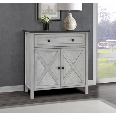 Lamb Farmhouse 1 Drawer Accent Cabinet Color: Gray