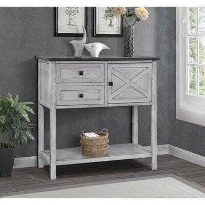 Lamb Farmhouse Console Table Color: Gray