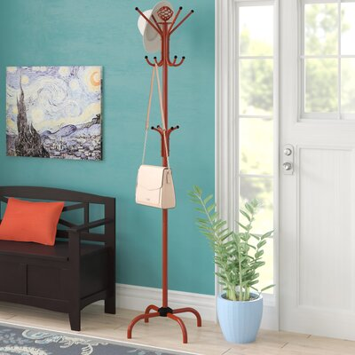 Arness Metal Coat Rack Color: Red
