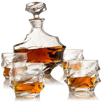 """Bigby Everest 5 Piece Beverage Serving Set Size: 10"""" H x 4"""" W x 4"""" D"""