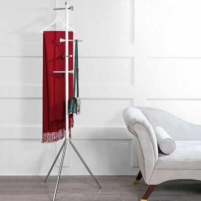 Peeples Metal Coat Rack Color: White/Chrome