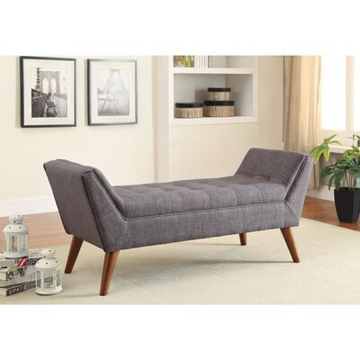 Durso Upholstered Storage Bench Upholstery: Gray
