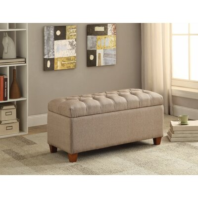 Kenyon Functionally Stylish Upholstered Storage Bench Upholstery: Brown