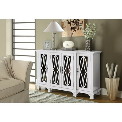 Hippocrates 4 Door Accent Cabinet Color: White