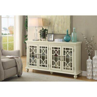 Kratochvil 4 Door Accent Cabinet Color: White