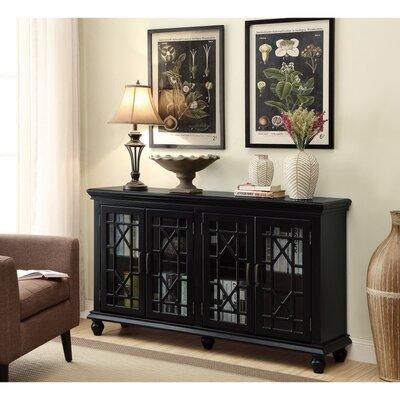 Kratochvil 4 Door Accent Cabinet Color: Black