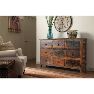 Bicknell Rustic Look Wooden 9 Drawer Accent Chest