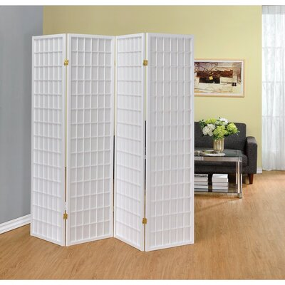 Miconi 4 Panel Room Divider Color: White