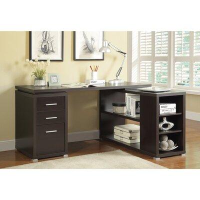 Ralphs Exquisite Wooden Executive Desk Color: Brown