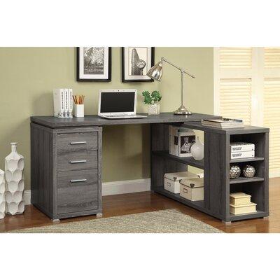 Ralphs Exquisite Wooden Executive Desk Color: Gray