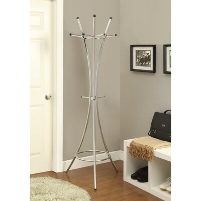 Fales Metal Standing Coat Rack Color: Silver
