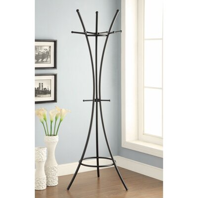 Fales Metal Standing Coat Rack Color: Black