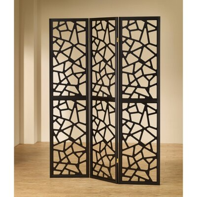 Aldarondo Intricate Mosaic 3 Panel Room Divider